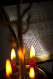 Open Bible and Bible Verse. John 3.16 Stock Images