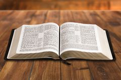 Open Bible. Book Old Religion Christianity Spirituality Education Stock Images