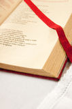 Open bible detail. On an altar Royalty Free Stock Photo