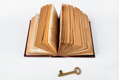 Open Bible with key Royalty Free Stock Photos