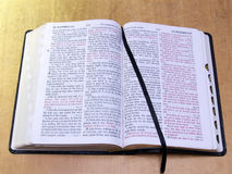 Open Bible with ribbon. Open Bible with page-marker ribbon Royalty Free Stock Photos