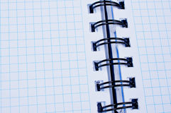 Open binder white paper notebook. Close up Stock Photos