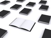 Open black book Royalty Free Stock Image