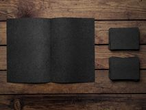 Open black book Royalty Free Stock Photo