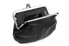 Open Black Change Purse  Stock Photography