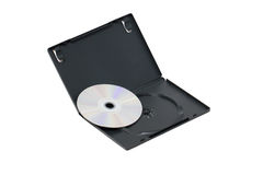 The Open Black DVD Case With Disk. Royalty Free Stock Photos