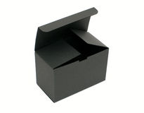 Open black empty paper box Royalty Free Stock Photography