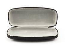Open black glasses case  on white Royalty Free Stock Image