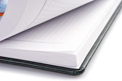 Black leather book. Open black leather book, browsing of pages Stock Images