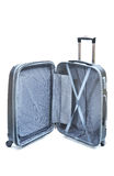 Open Black luggage isolated Royalty Free Stock Photography
