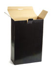 Open black paper box Royalty Free Stock Photography