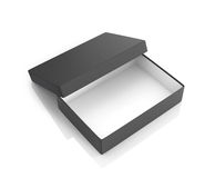 Open black paper box Royalty Free Stock Image