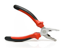 Open black and red pliers Royalty Free Stock Image