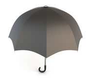 Open black umbrella isolated on white background. Royalty Free Stock Photography