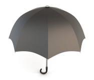 Open black umbrella isolated on white background. Royalty Free Stock Photography