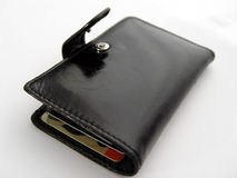 Open Black Wallet Royalty Free Stock Image