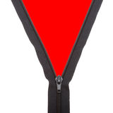 Open black zipper closeup Royalty Free Stock Image