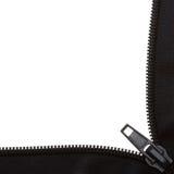 Open black zipper frame Stock Image