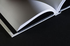 Open blank book Stock Photo