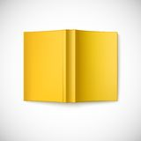 Open blank book cover, top view Stock Photo