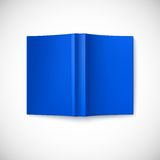 Open blank book cover, top view Stock Image