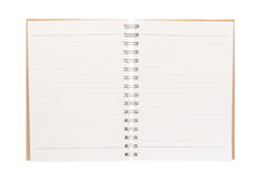 Open blank book isolated on white. Background Royalty Free Stock Photos