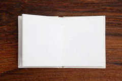 Open blank book Stock Image