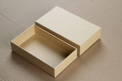 Open Blank Cardboard Box for Mockup Royalty Free Stock Photo