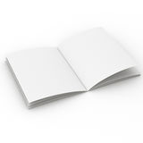 Open blank catalog in A4 size Royalty Free Stock Photos