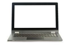 Open blank laptop Stock Image