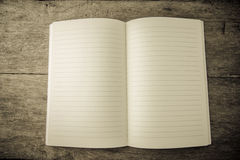 Open blank lined notebook Royalty Free Stock Photography