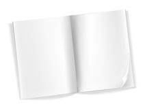 Open blank magazine pages. On white Royalty Free Stock Photos