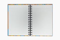 Open blank note book. Two side Royalty Free Stock Images