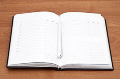 Open blank note book Royalty Free Stock Photos