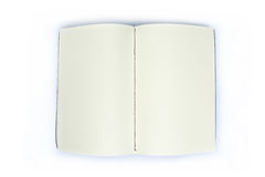Open blank note book Royalty Free Stock Images