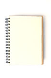 Open blank note book. On white background Stock Photo