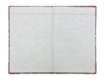 Open blank note book on white background Royalty Free Stock Photography