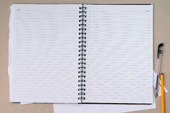 Open Blank Notebook Stock Image