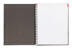 Open Blank Notebook Black Cover. Stock Image