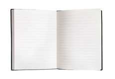 Open blank notebook Royalty Free Stock Images
