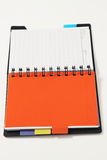 Open blank notebook on a white background Royalty Free Stock Photos