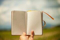 Open blank notepad Royalty Free Stock Image