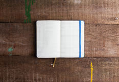 Open blank notepad with empty white pages Royalty Free Stock Images