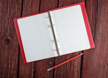 Open blank notepad with a pencil Royalty Free Stock Photos