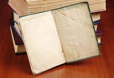 Open blank old book Stock Photos