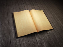 Open blank old book Stock Photography