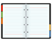 Open Blank Organizer royalty free illustration
