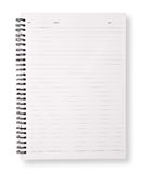 Open blank page note book Stock Photography