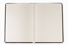 Open blank page note book Stock Photo