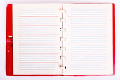 Open Blank Page Notebook. Old Paper Notepad Royalty Free Stock Image